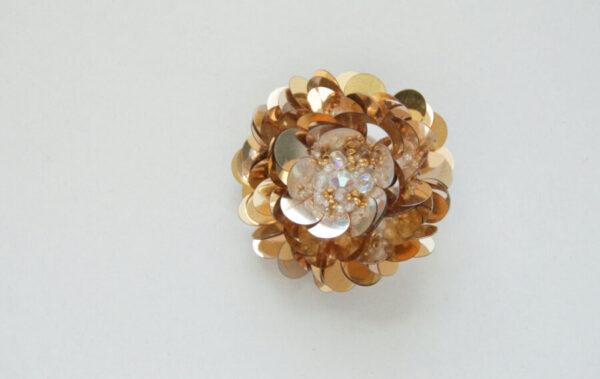 Dahlia Brooch Gold Details