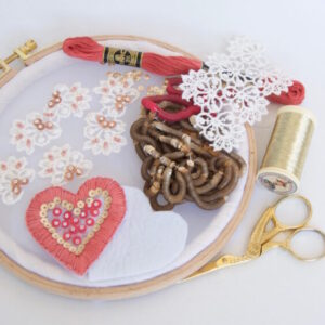 Hand embroidered applique